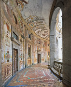 Villa Farnese, Gallery around the Courtyard, Caprarola